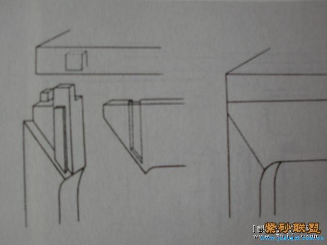 桌椅透视结构图素描