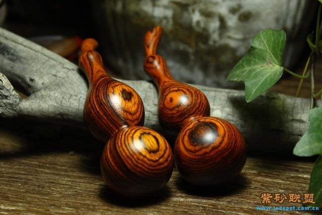 红木葫芦手工作品图片