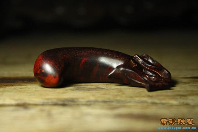 印度小叶紫檀的茄子形状手把