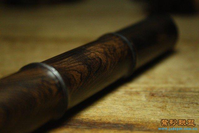 条纹乌木的,做成竹节形