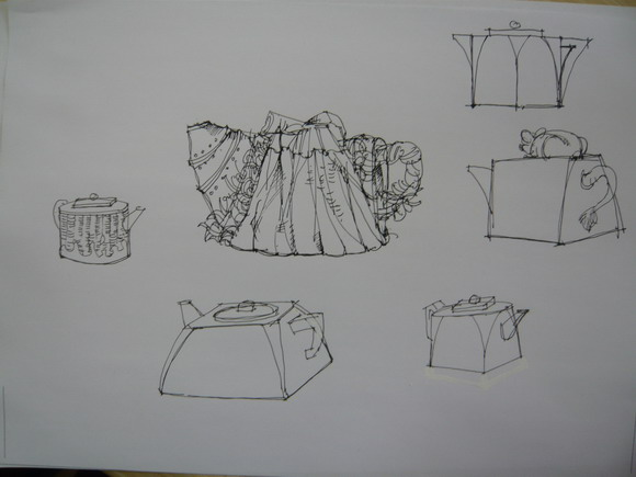 陶艺设计图手绘